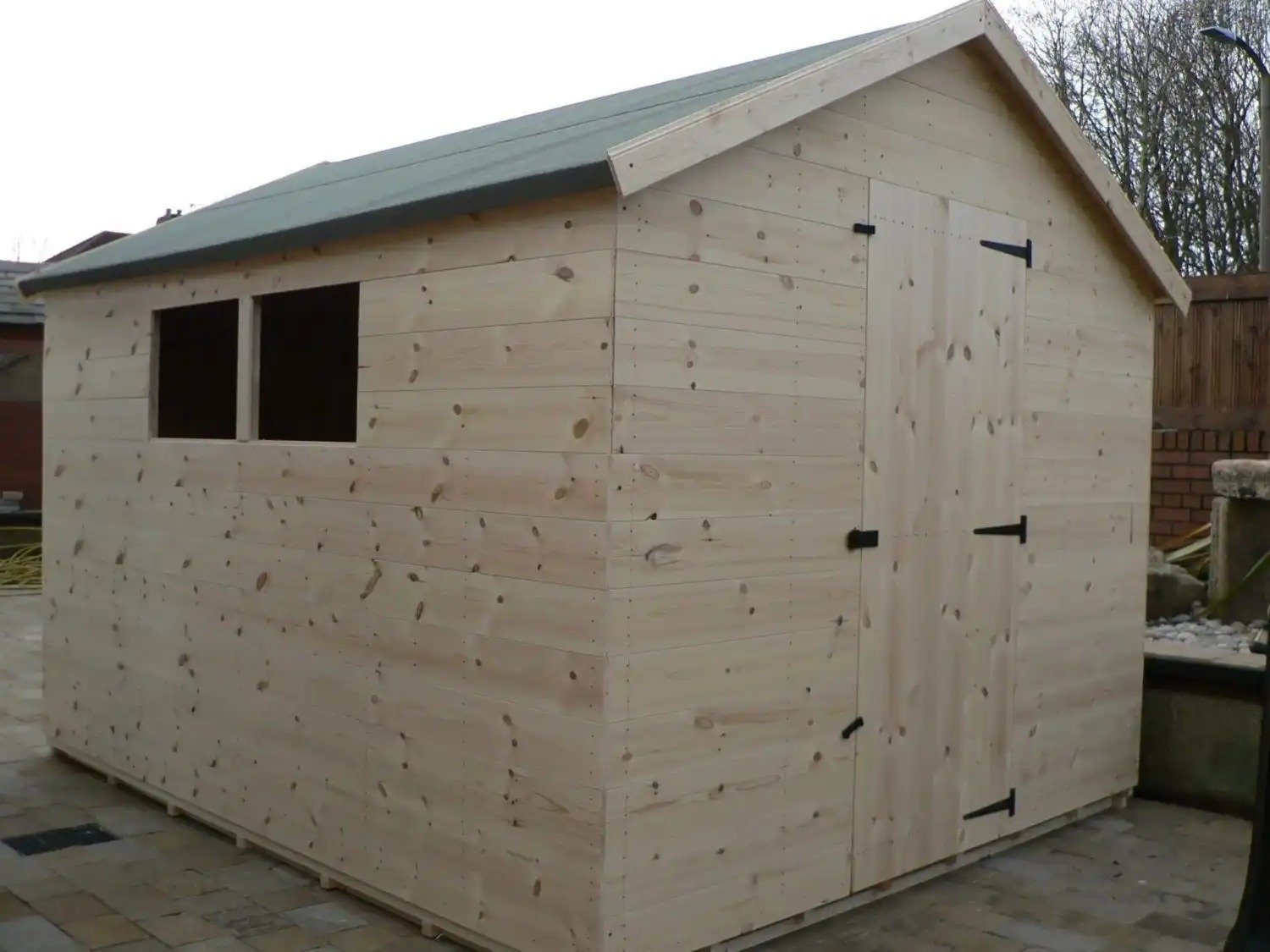 10' X 8' Apex Shed Full Size Windows