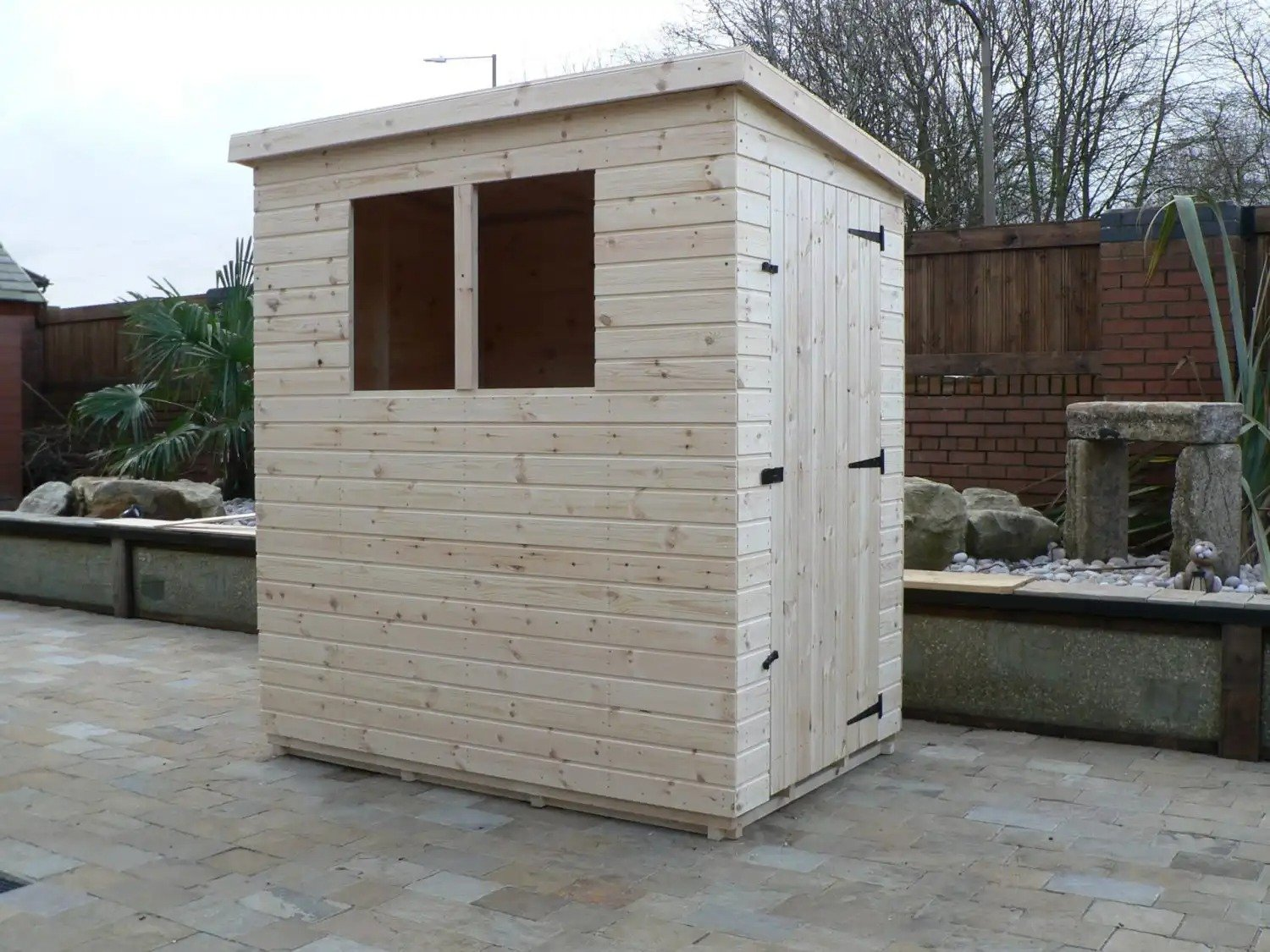 6' X 4' Pent Shed Full Size Windows