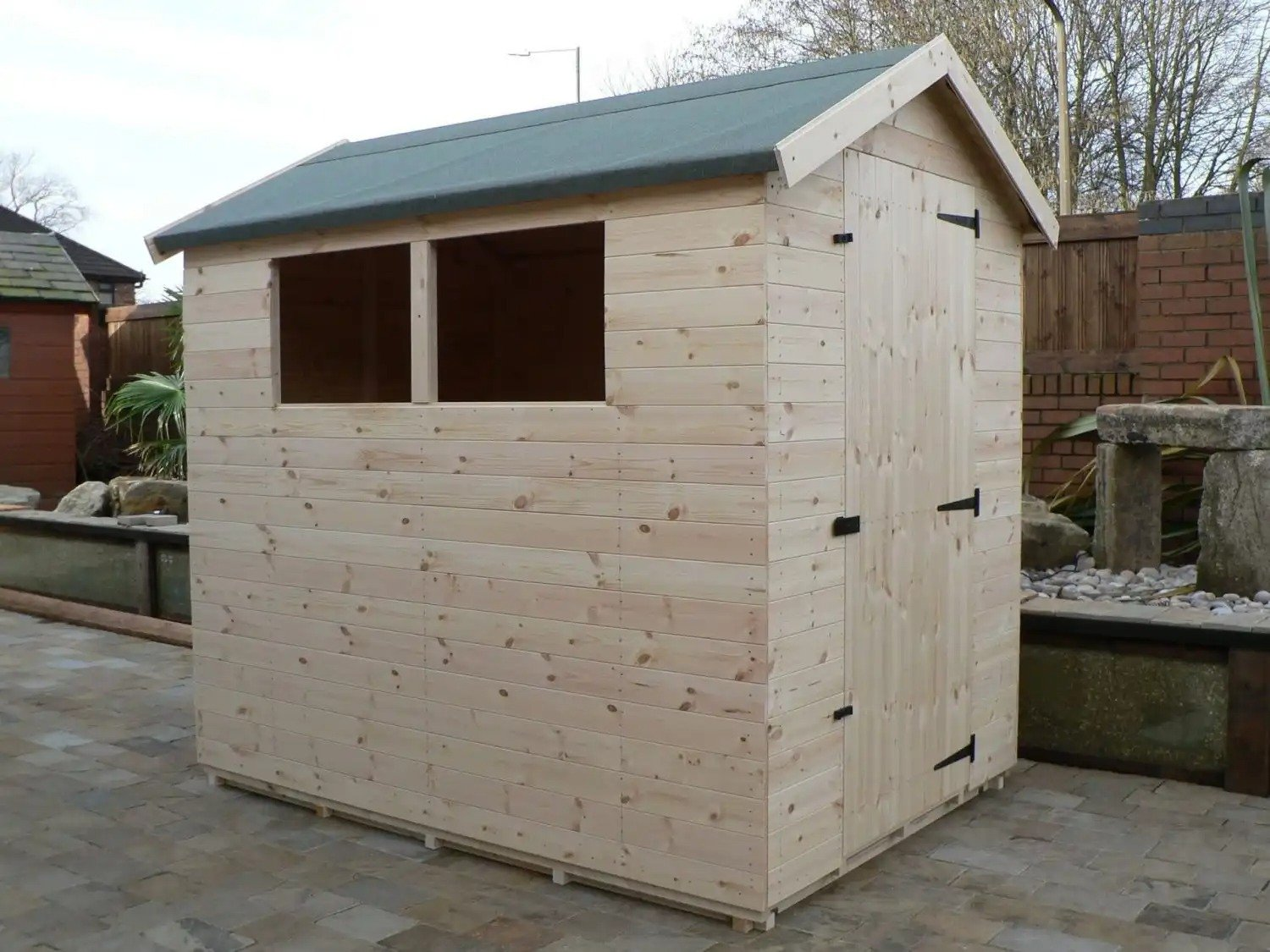 7' X 5' Apex Shed Full Size Windows